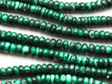 Malachite Rondelle Gemstone Beads 6-7mm (GS4715)