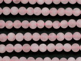 Matte Rose Quartz Round Gemstone Beads 6mm (GS4722)