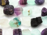 Rainbow Fluorite Rough Nugget Gemstone Beads 12-22mm (GS4740)