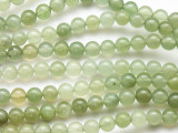 Green Jade Round Gemstone Beads 6mm (GS4754)