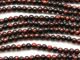 Red Tiger Eye Round Gemstone Beads 4-5mm (GS4759)