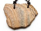 Picture Jasper Gemstone Slab Pendant (GSP2298)