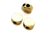 Brass Pewter Bead - 2-Strand Spacer 8mm (PB855)