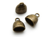 Brass Pewter Cap w/Bail 2mm (PB868)