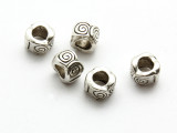 Pewter Bead - Spiral Ring 10mm (PB869)