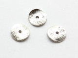 Pewter Bead - Bent Disc 12mm (PB875)