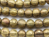 Ornate Round Brass Beads 15-17mm - Ghana (ME5714)