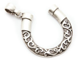 Ornate Horseshoe Pendant 48mm (AP2034)