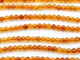 Genuine Amber Round Beads 5mm (AB88)