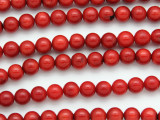 Red Bamboo Coral Round Beads 8mm (CO568)