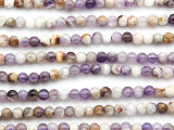 Chevron Amethyst Round Gemstone Beads 4mm (GS4764)