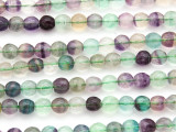Rainbow Fluorite Faceted Round Gemstone Beads 6mm (GS4765)