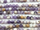Chevron Amethyst Round Gemstone Beads 6mm (GS4768)