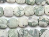 Matte Jade Square Gemstone Beads 15mm (GS4770)