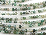 Moss Agate Round Gemstone Beads 4mm (GS4774)
