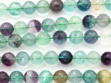 Rainbow Fluorite Faceted Round Gemstone Beads 10mm (GS4795)