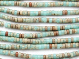 Aqua Terra Jasper Heishi Gemstone Beads 4mm (GS4801)