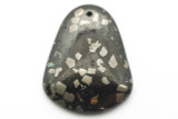Jet & Pyrite Gemstone Pendant 46mm (GSP2396)