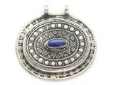 Afghan Tribal Silver Pendant - Lapis Lazuli 46mm (AF897)