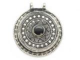 Afghan Tribal Silver Pendant - Onyx 43mm (AF901)