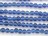 Cobalt Blue w/White Center Glass Beads 8mm (JV1274)