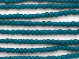 Teal Blue Glass Beads 6mm (JV1293)