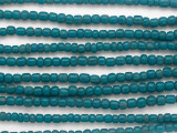 Teal Blue Graduated Glass Beads 3-5mm (JV1295)