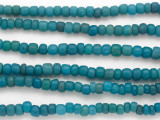 Turquoise Blue Graduated Glass Beads 4-7mm (JV1309)