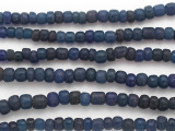 Navy Blue Graduated Glass Beads 6-9mm (JV1311)