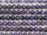 Amethyst Faceted Round Gemstone Beads 8mm (GS4818)