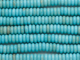 Turquoise Magnesite Rondelle Gemstone Beads 8mm (GS4823)