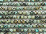 "African ""Turquoise"" Jasper Faceted Round Gemstone Beads 6mm (GS4825)"