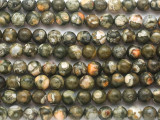 Rainforest Jasper (Rhyolite) Round Gemstone Beads 6mm (GS4842)