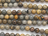 Paintbrush Jasper Round Gemstone Beads 8mm (GS4845)