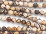 Brown Zebra Jasper Round Gemstone Beads 8mm (GS4849)