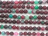 Red & Green Quartz Faceted Round Gemstone Beads 6mm (GS4853)