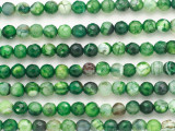 Green Crackle Agate Faceted Round Gemstone Beads 6mm (GS4856)