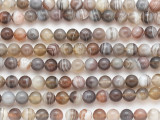 Botswana Agate Round Gemstone Beads 6mm (GS4860)