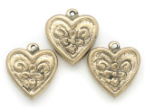 Brass Heart Amulet 36mm (AP2042)
