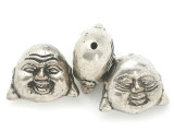 Silver Plated Brass Buddha Amulet 36mm (AP2044)