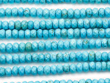 Turquoise Faceted Rondelle Beads 6mm (TUR1340)
