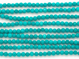 Turquoise Faceted Round Beads 4mm (TUR1345)