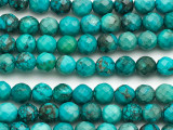 Turquoise Faceted Round Beads 5mm (TUR1349)