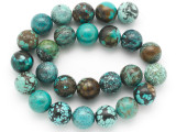 Turquoise Round Beads 16mm (TUR1389)