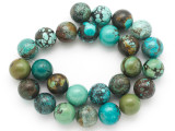 Turquoise Round Beads 16mm (TUR1390)