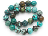 Turquoise Round Beads 16mm (TUR1391)