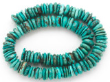Turquoise Irregular Disc Beads 10-13mm (TUR1396)