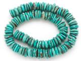 Turquoise Irregular Disc Beads 11-13mm (TUR1397)