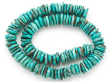 Turquoise Irregular Disc Beads 10-13mm (TUR1398)