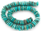 Turquoise Irregular Disc Beads 10-15mm (TUR1399)